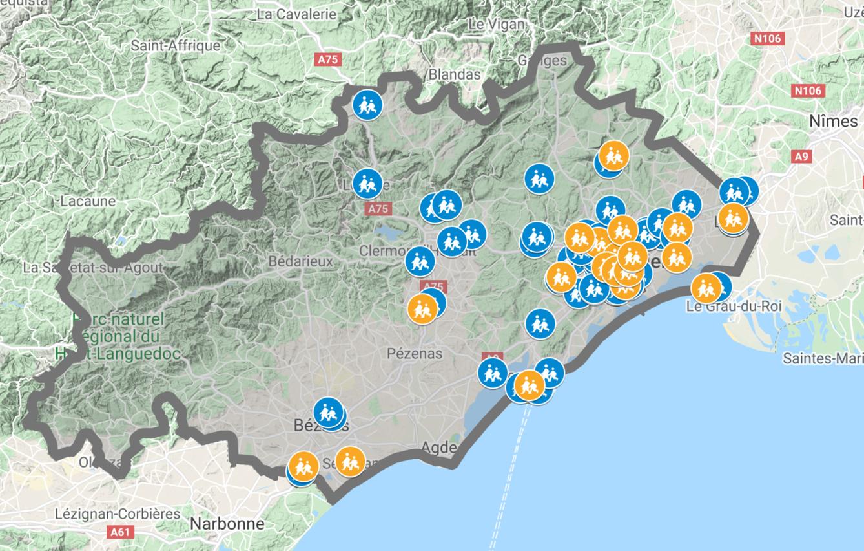 Carte Halte Pouce Zones d'intervention 2020